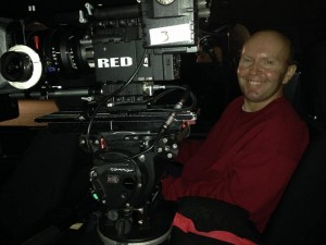 Terry with RED on set of TDF