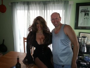 "Veronica Freeman and Terry on the set of ""Again"" Music Video Staten Island, NY August 1, 2015"