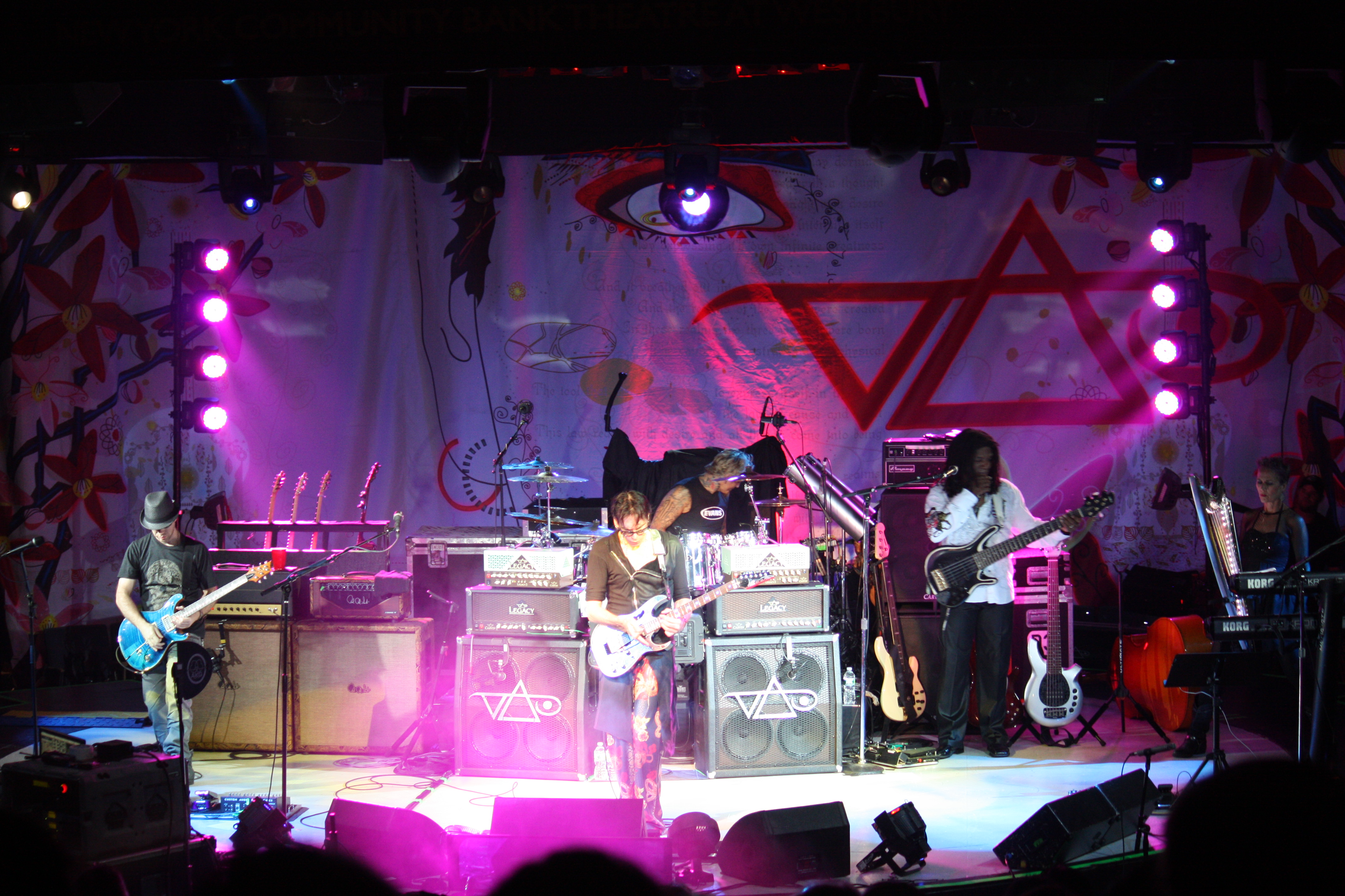 Steve Vai Live Show Review Manta Ray Pictures Tendencies Tshirt Troopers Hitam L Vai8
