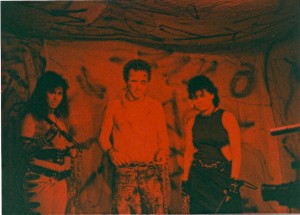 Andrea Ornstein, Don Lopez and Chrissie Pace are ready for action @ Flash Studios on 4/8/89