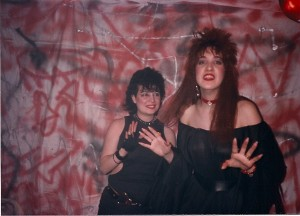 Chrissie Pace and Madison are having a grand time @ Flash Studios on 4/8/89.  Chrissie was Madison's hair stylist