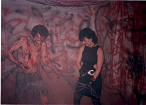 Chrissie Pace makes Don Lopez dance in Hell @ Flash Studios on 4/8/89