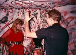 Terry directs Helen Pappas and Albert Feis @ Flash Studios on 4/8/89