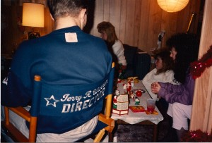 Terry meets with cast & crew before the big November 25, 1988 shoot @ Cutting Edge Hair Studio in East Meadow, NY