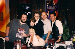 "SaRenna Lee, Evil Streets ""Zamota's Mistress"" Director Joe Parda & Producer Joe Zaso and Terry @ Chiller Convention 1998"