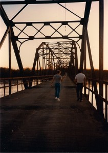 Blackburn Bridge was built in 1928 and spans over the Arkansas River
