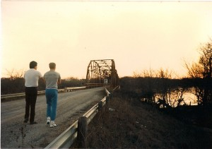 Director of Photography Jay Bullbear and I scout the Blackburn Bridge