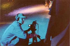 "DP Sean McGinn is about to shot the ""Killer's"" POV tracking shot approaching the SUV in Mahopac, NY."