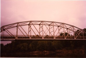The Burr's Ferry Bridge was opened in 1925 and is located in Burkeville, Texas, near the mouth of Pearl Creek.
