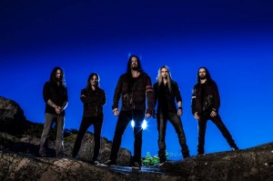Evergrey is left to right: Henrik Danhage (Guitars), Rikard Zander (Keyboard), Tom S. Englund (Vocals), Jonas Ekdahl (Drums) and Johan Niemann (Bass)
