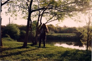 Michael Knight plays @ Gardiner's County Park.  Further back in the woods in the distance, Terry had filmed part of his short film Double Fantasy five years prior.