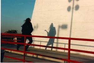 Michael Knight rocks his shadow against the Vietnam Memorial @ Bald Hill