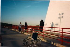 Terry directs Michael Schwartz & Michael Knight @ Vietnam Memorial.