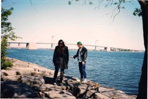 Terry directs Michael Knight @ Throggs Neck Jetty.  The Throggs Neck Bridge looms in the distance