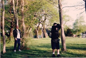 Terry watches Michael Schwartz shoot @ Gardiner's County Park, Bay Shore, NY.  Michael was receiving private filmmaking lessons from Terry.