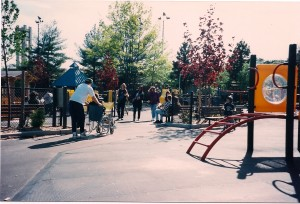 The band plays their music in Christopher Morley Park.