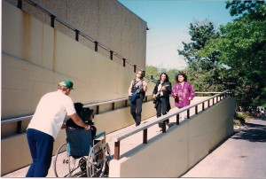Kurt, Michael Knight and Kato stroll through Christopher Morley Park.