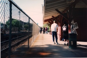 Here comes the band @ Williston Park Train Station.