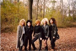 "The girls of ""To Live Is To Die"" left to right; Joyce McLoughlin, Chrissie Pace, Tamara Gorkin, Inga, Stacy. Madison Wickham is not in the photo but was the other girl in the video @ Valley Stream State Park"