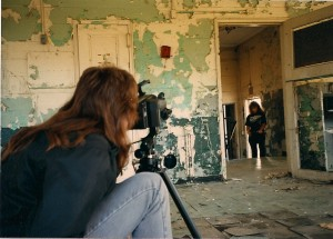 Kenny shoots Doria in an abandoned building under Roslyn Viaduct in Rosyln, NY