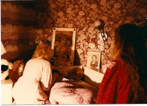 """Tabitha"" (Lydia Rodriguez) stands at the foot of her sister's bed as her mother (Helen Proimos) attends to ""Joann"" (Madison Di Loren) @ Proimos Residence in Dix Hills, NY"