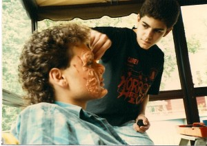 "Special Make-up Effects Artist Jason Alvino applies the 5-hour ""Shadow Lover"" make-up job on Ted Moriates @ Alvino Residendce in Floral Park, NY.  Besides Double Fantasy Jason headed the make-up effects on Terry R. Wickham's films Madame Red, Out of Touch, the episodes ""The Downfall of Johnny Garrett"" and ""Stalk"" in the feature film Evil Streets."