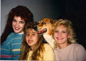 Madison Di Loren, Lydia Rodriguez, dog (can't remember the name) and Helen Proimos made for a picture perfect family.