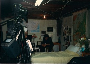 "Ted Moriates focuses on the important scene he's about to do in ""The Shadow Lover's"" liar.  This was filmed in the basement of the Biondi Home in Franklin Square, NY"