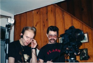 Terry & DP Gabe Gabrielsen on set @ Flash Studios in Central Islip, NY