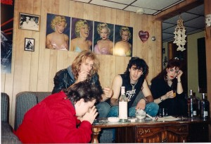 The abusers in Oh Father left to right; Bart Falcone, Kia Ward and Rich Schiano.  Madison Di Loren looks at they guys feeding their vices @ Wickham's apartment in Elmont, NY