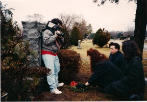 "Lou Trapani shots Madison setting flowers down on the grave of her dead boyfriend.  Frank Bartell and Deborah are their to support their friend.  Terry considers ""Oh Father"" to be one of the better amateur music videos he's made because it detonates with emotion."