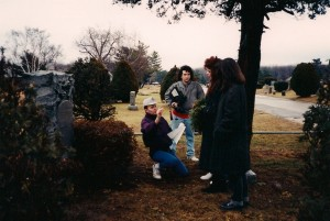 Terry directs @ Rockville Cemetery in Lynbrook, NY.  Frank Bartell, Madison Di Loren and Deborah were all attending acting school @ HB Studios in New York City with Terry during this time.