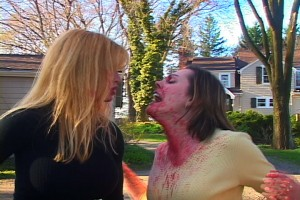 """Bloody Mary"" (Doris Dany) gets her name for good reason. ""Martha's"" (Melanie Brown) reaction really helps sell Anthony Jones explosion of gore."