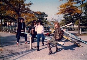 "Albert Feis, Elizabeth Otto, Andrea Ornstein and Helen Pappas played Madison's friends in ""Forever Young"" here at Silver Lake County Park in Baldwin, NY"