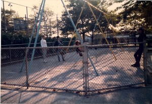 To get the camera movement Terry desired, Kenny shot while swinging on the swing