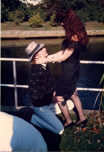 """Kia Ward and Madison Di Loren play the couple in love in """"Forever Young"""" here @ Silver Lake County Park in Baldwin, NY"""