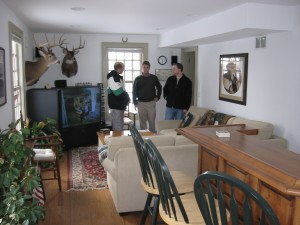 Scouting the location that would end up being Alex Blakely's home.  Left to right Director Terry Wickham, Executive Producer Bill Kirkbride and Writer/Producer Tim Clark.