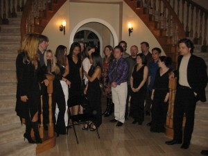 HOTD cast & crew start to assemble for the production photo @ the beautiful mansion location in Colt's Neck, NJ 03/03