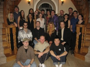 "Cast & Crew @ ""Trevor Larkin's"" mansion in the movie, which actually belonged Cookie & Mark Cooper 03/03"