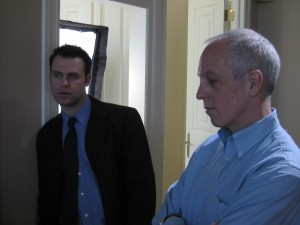 "Tyler Evans as ""Agent Rannacher"" and Steve Deighen as ""Agent Rosner"" are the FBI Agents onto ""Bloody Mary's"" exploits @ Cooper home in Colts Neck, NJ"