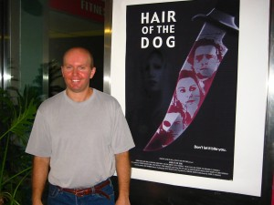 Director Terry Wickham stands proud at the Premiere of HAIR OF THE DOG in New York City