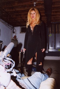 "Sean McGinn films ""Mary Jenkins"" from ""Alex's"" POV.  The blonde bombshell really took the role by the throat not only looking sensational but bringing the inner aggression to make a believable female serial killer.  This was filmed in the gigantic basement of the Cooper's mansion 03/03"