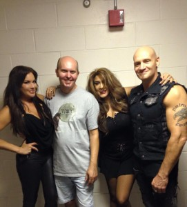 Diana Noris, Terry R. Wickham, Veronica Freeman and Ralf Scheepers in Riverhead, NY shooting The Devil's Five
