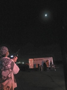Kenwick Cook photographs the Harvest Moon on Sunday September 27 @ the airport runway in Calverton, NY