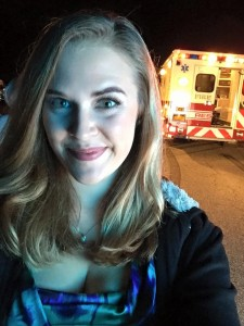 """Actress Rachael Scarr looks happy to be playing """"Myra"""" in The Devil's Five"""
