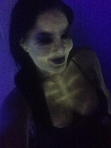 The black light really brought out Diana's wicked side