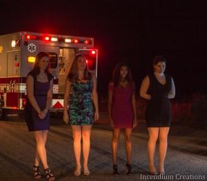 Left to right Tyler Kipp, Rachael Scarr, Chanise Renae, Sarah Greenspan