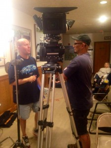 Director Terry R. Wickham and Director of Photography Edwin M Figueroa discuss a shot
