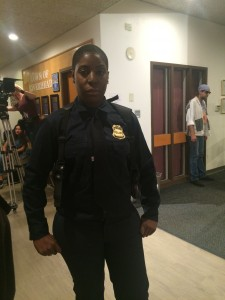 "Actress Vanessa Michelle Charles ""walked the walk"" of her character ""Corporal Hamilton"" in Riverhead, NY"