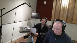 "Sound Designer Thomas Jackson leads the ADR Session with actor Jonathan Weirch ""Minister Malcolm"" @ School of Audio Engineering in New York City 2/20/16"